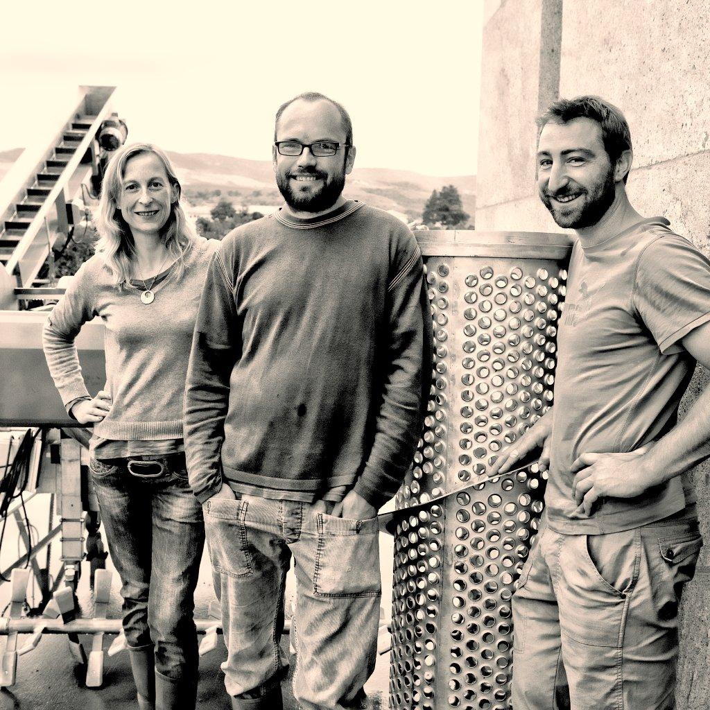 Photo of Sebastien, Beatrice & Nicolas vineyard owners