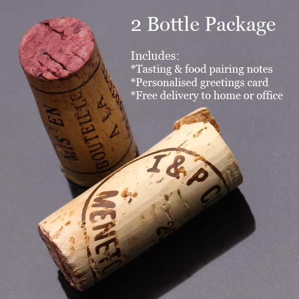 2 bottles wine gift